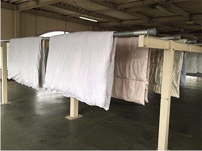 リナビスは布団を自然乾燥する