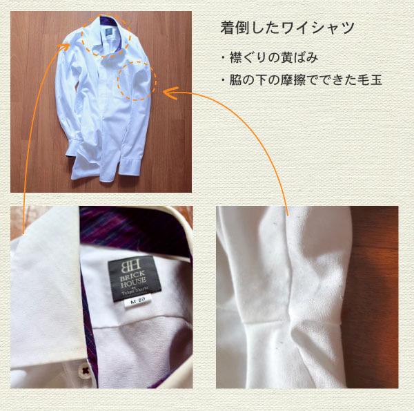 ワイシャツの汚れメモ