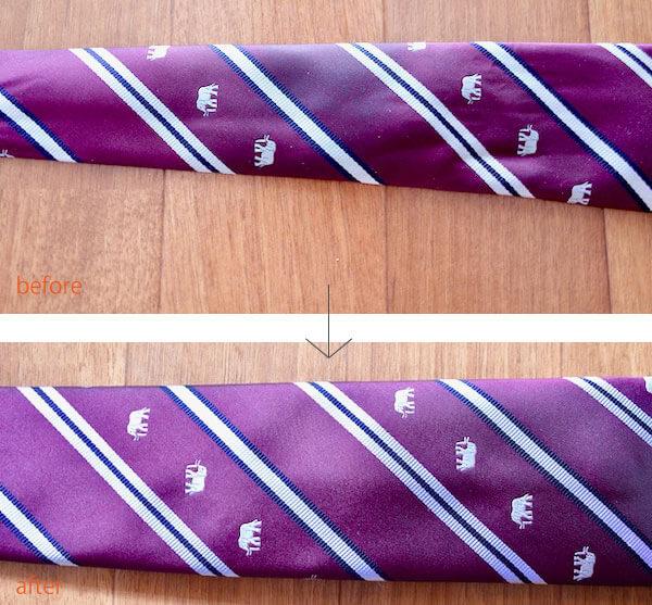 リネットでネクタイを洗った結果
