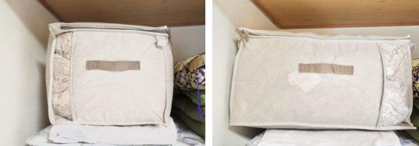 ニトリの布団収納バッグを縦と横で収納した場合