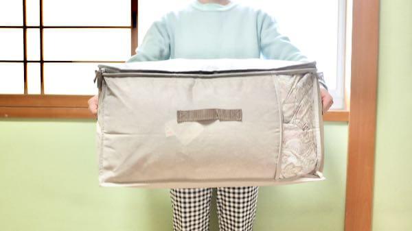 ニトリの布団収納袋のサイズ感(持ってみた)