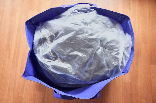 wash closet専用バッグに梱包