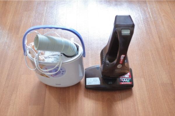 布団乾燥機と布団クリーナー