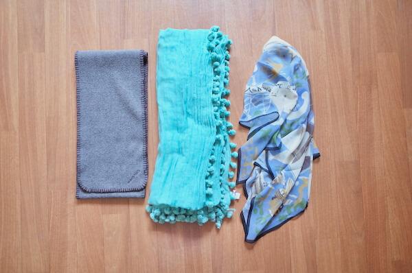 美服パックで洗った襟巻き類