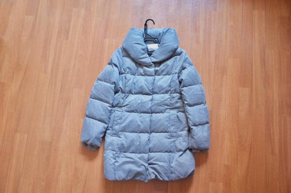 美服パックで洗ったダウンコート
