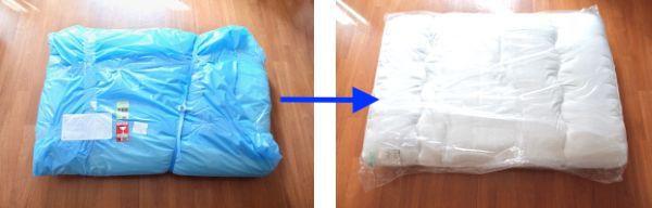 オンダクリーニングの布団返却時の梱包