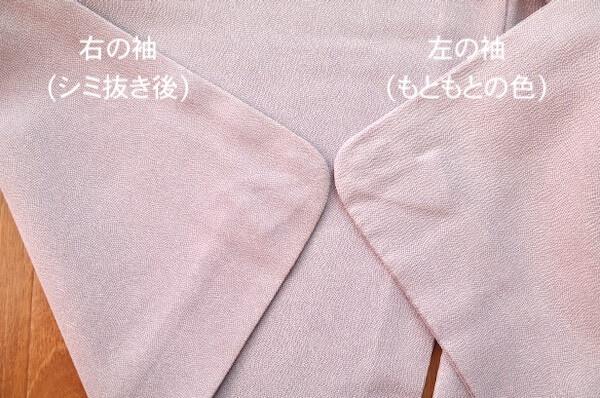 わ蔵の着物の色補正の度合いを確認